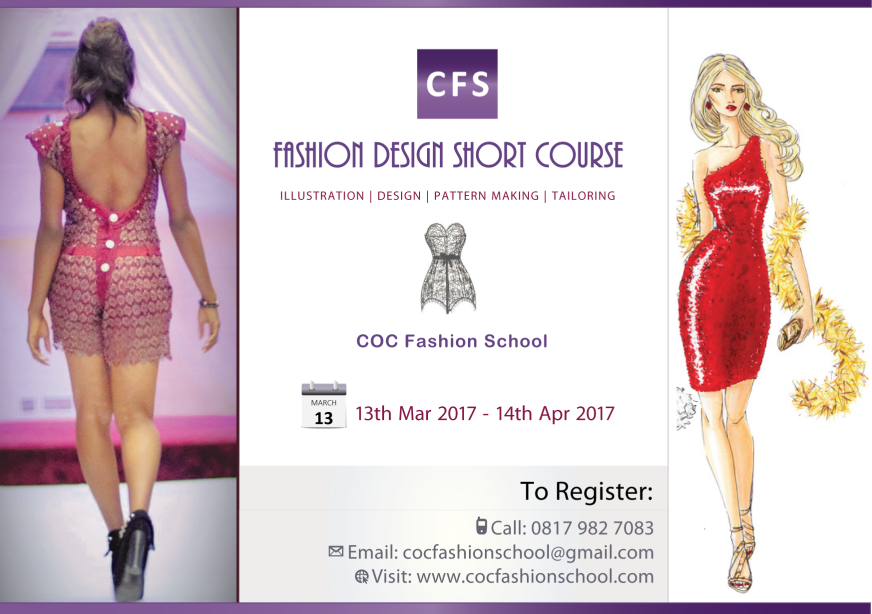 Fashion Design Short Course 2017 Coc Fashion School